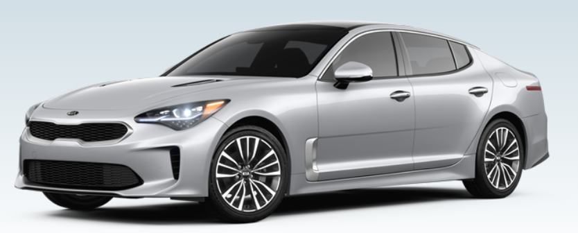 silver 2018 Kia Stinger Premium trim