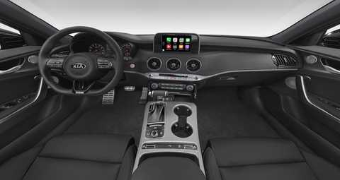 2018 Kia Stinger Black Leather seat trim