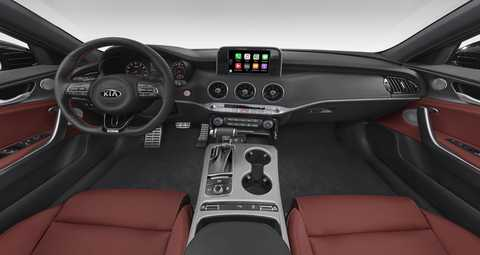 2018 Kia Stinger Red Leather seat trim