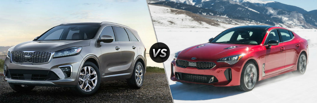 Is the 2019 Kia Sorento or 2019 Kia Stinger the More Powerful Model?