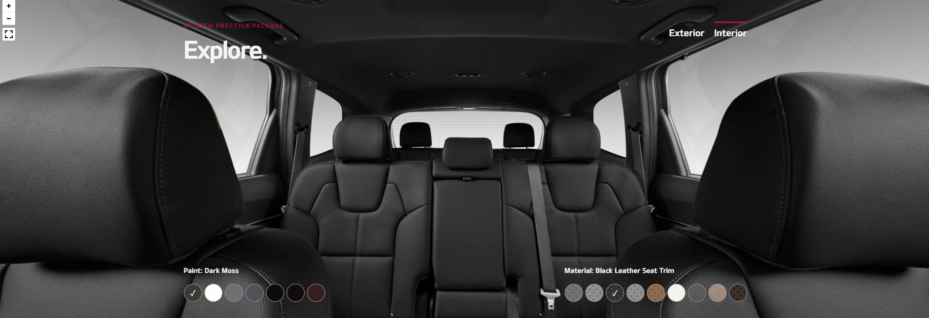 2020 Kia Telluride Black Leather Seat Trim