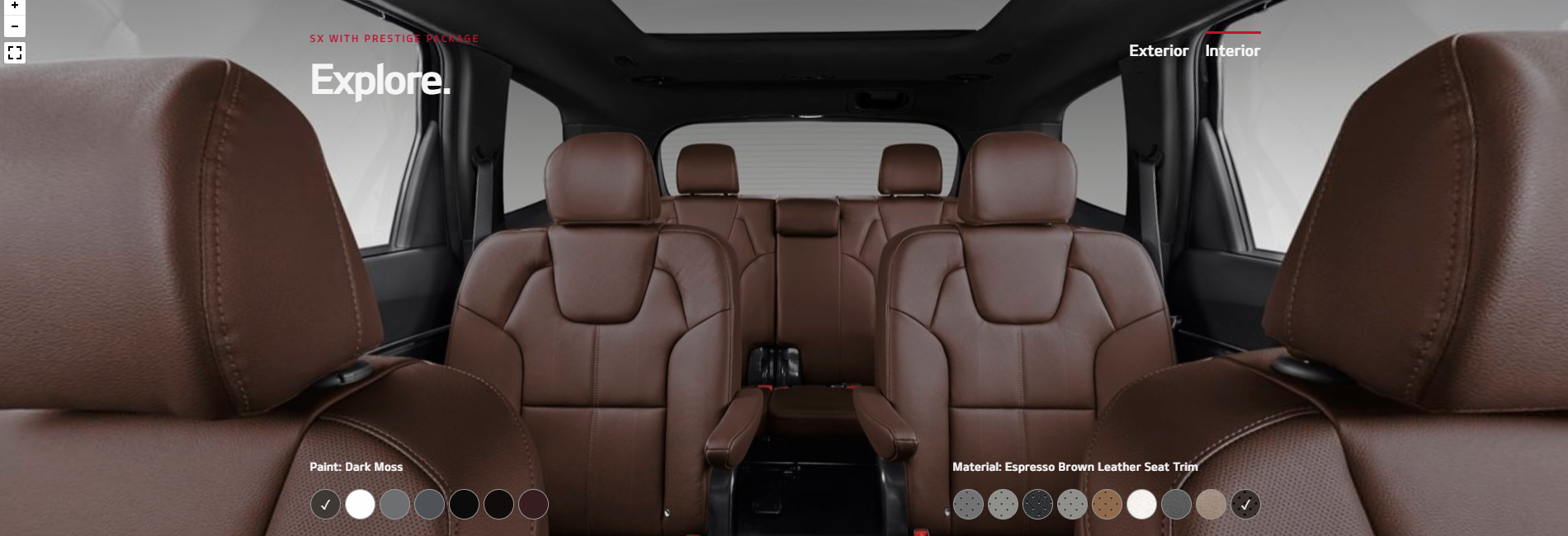 2020 Kia Telluride Espresso Brown Leather Seat Trim