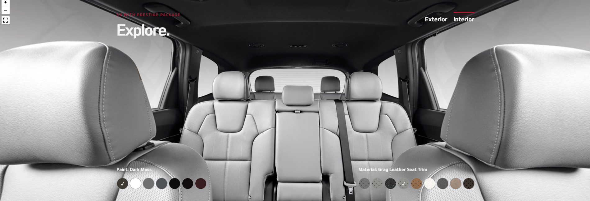 2020 Kia Telluride Gray Leather Seat Trim