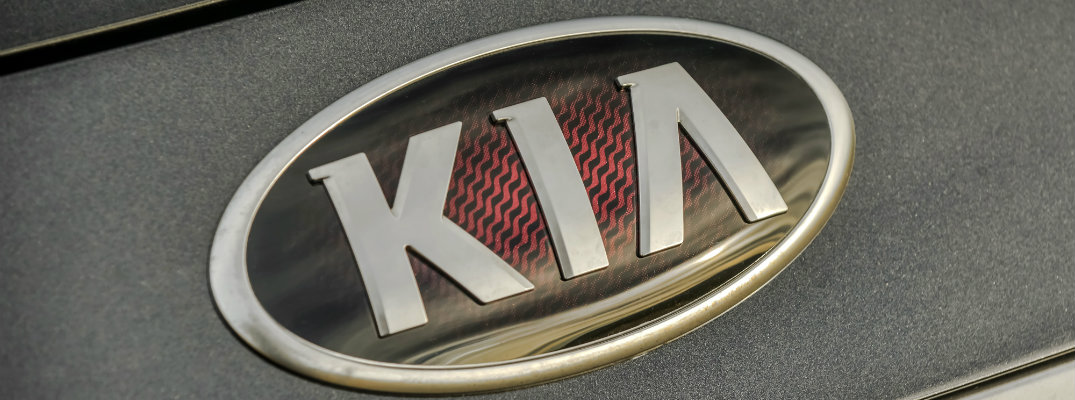 2019 Kia K900 premium badge adornment closeup shot