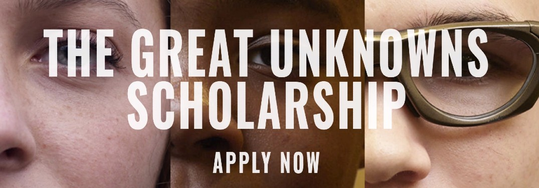 Kia The Great Unknowns Scholarship Program open enrollment application banner