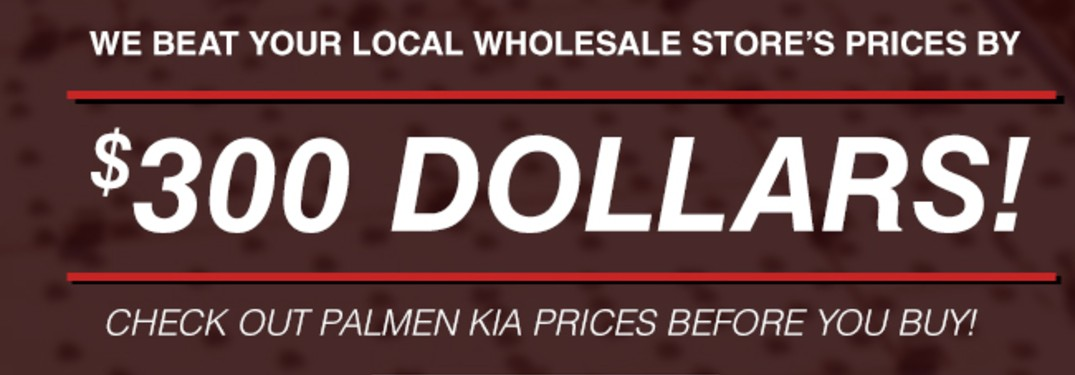 Palmen Kia Costco and Auto Wholesale Price Match Promise header