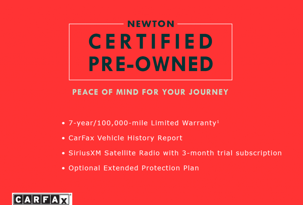 Why Buy a Newton Certified Pre-Owned Vehicle?