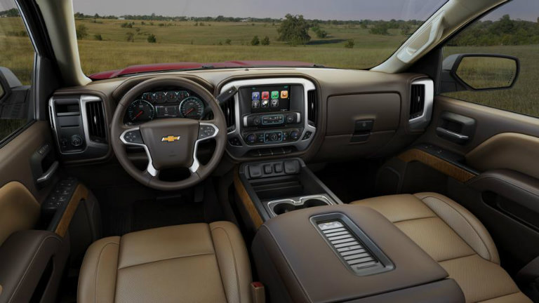 2017 Chevy Silverado with Cocoa/Dune with Perforated ...