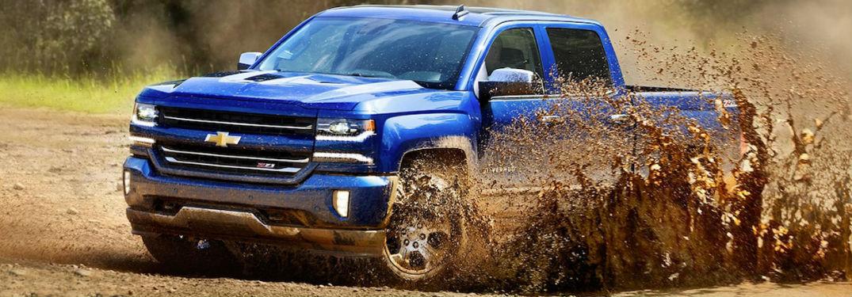 2018 Chevy Silverado in the mud