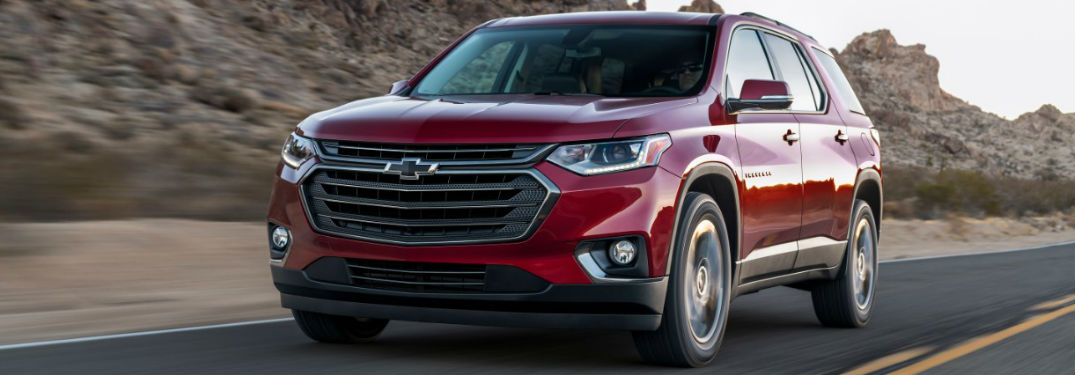 2018 Chevy Traverse RS in red