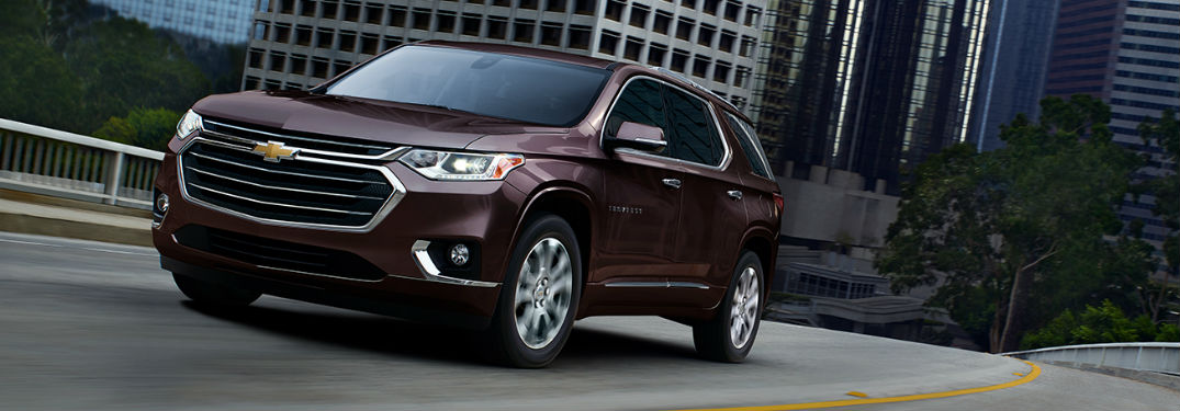 2019 Chevy Traverse in maroon