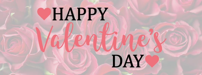 Happy Valentine's Day on roses