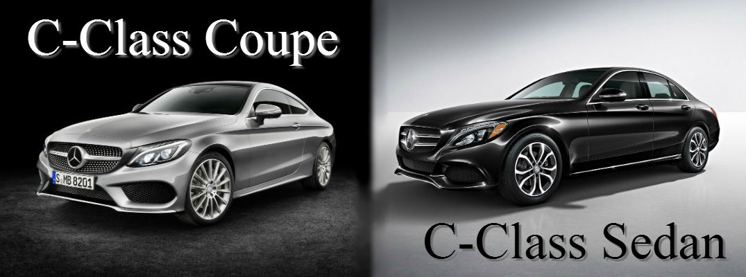 Sedan Vs Coupe >> 2017 Mercedes Benz C Class Coupe Vs C Class Sedan