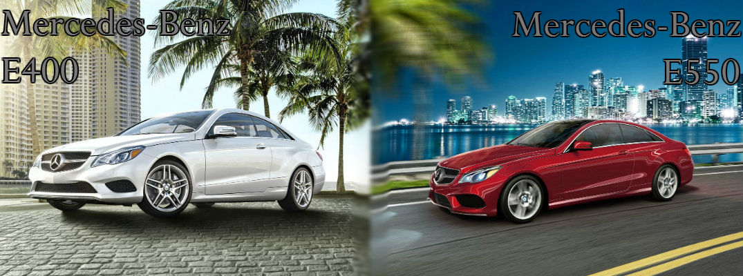 2017 Mercedes Benz E400 Vs E550