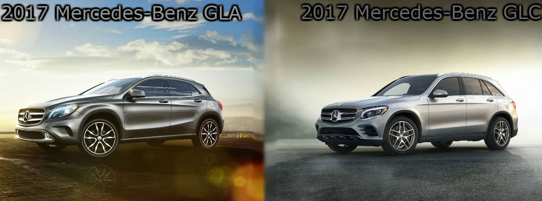 2017 Merecedes-Benz GLA vs 2017 Mercedes-Benz GLC