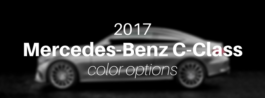 2017 mercedes-benz c-class exterior color options