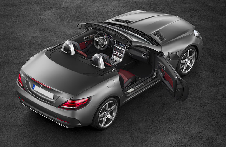 2017 Mercedes-Benz SLC roadster overhead view