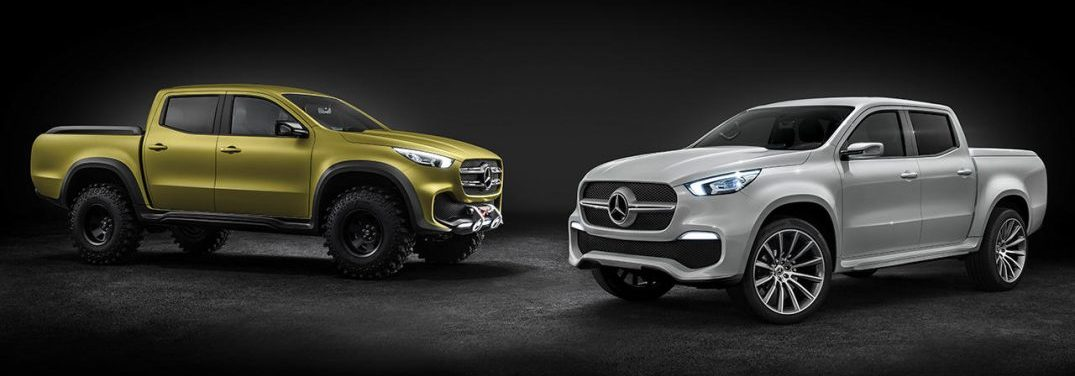 Mercedes-Benz Concept X-CLASS stylish explorer (rechts) und Mercedes-Benz Concept X-CLASS powerful adventurer (links) // Mercedes-Benz Concept X-CLASS stylish explorer (right) and Mercedes-Benz Concept X-CLASS powerful adventurer