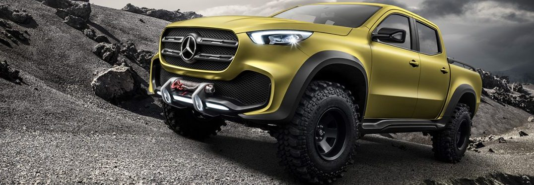 Mercedes-Benz Concept X-CLASS powerful adventurer – Exterieur, Lemonaxmetallic // Mercedes-Benz Concept X-CLASS powerful adventurer – Exterior, Lemonax metallic