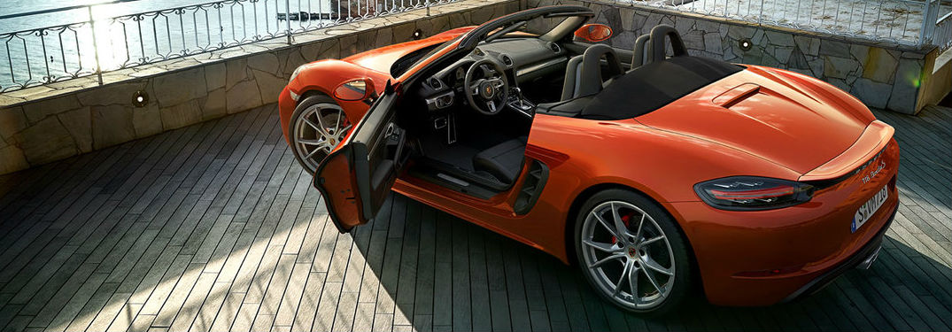 New Porscbe Boxster model in orange