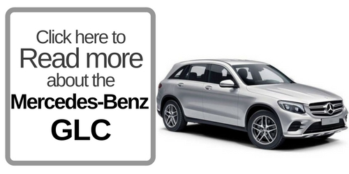 Button that Reads Click here to Read more about the Mercedes-Benz GLC with a picture of the GLC on the right