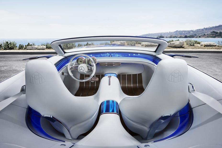 Vision Mercedes-Maybach 6 Cabriolet interior view from behind the seats
