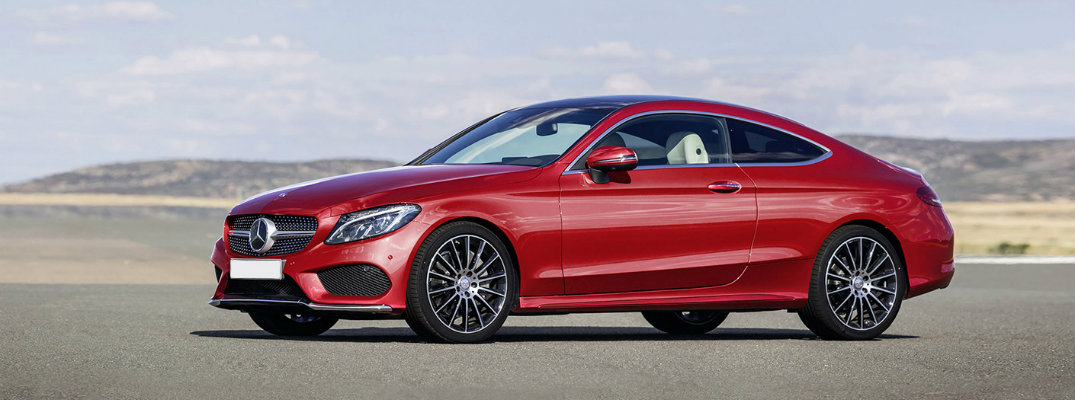 2017 Mercedes-Benz C-Class coupe parked on race track