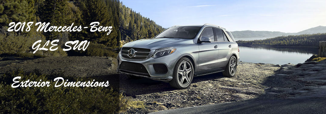 Just how big is the 2018 GLE SUV?