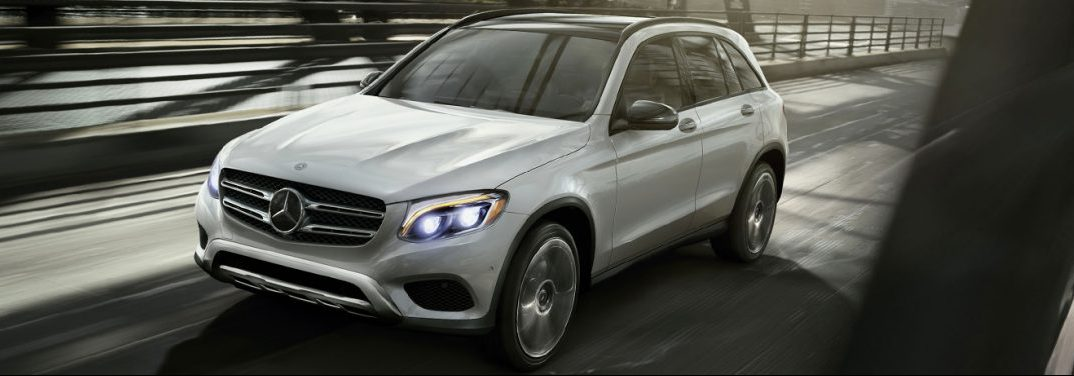 2018 Mercedes-Benz GLC driving on the city street
