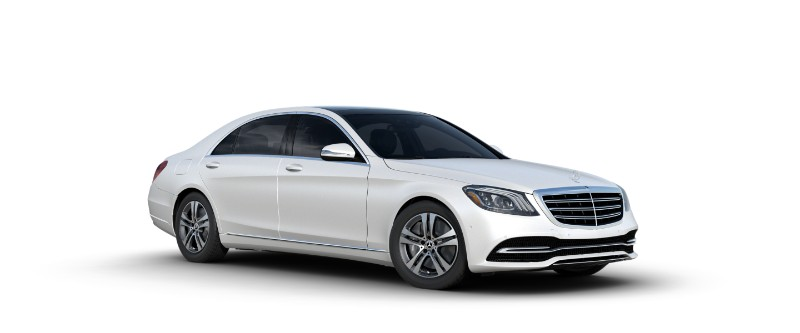 2018 Mercedes-Benz S-Class Sedan in designo cashmere white