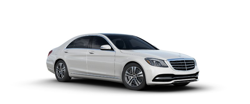 2018 Mercedes-Benz S-Class Sedan in designo diamond white metallic