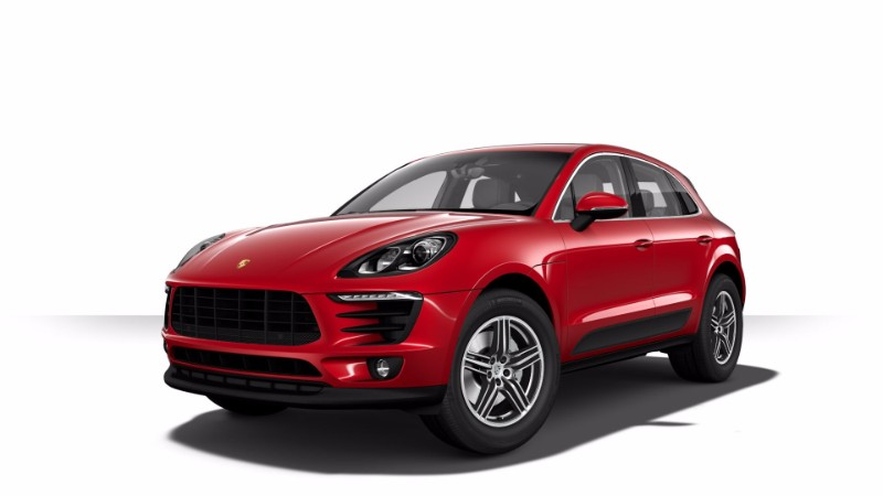2018 Porsche Macan S Color in Carmine Red