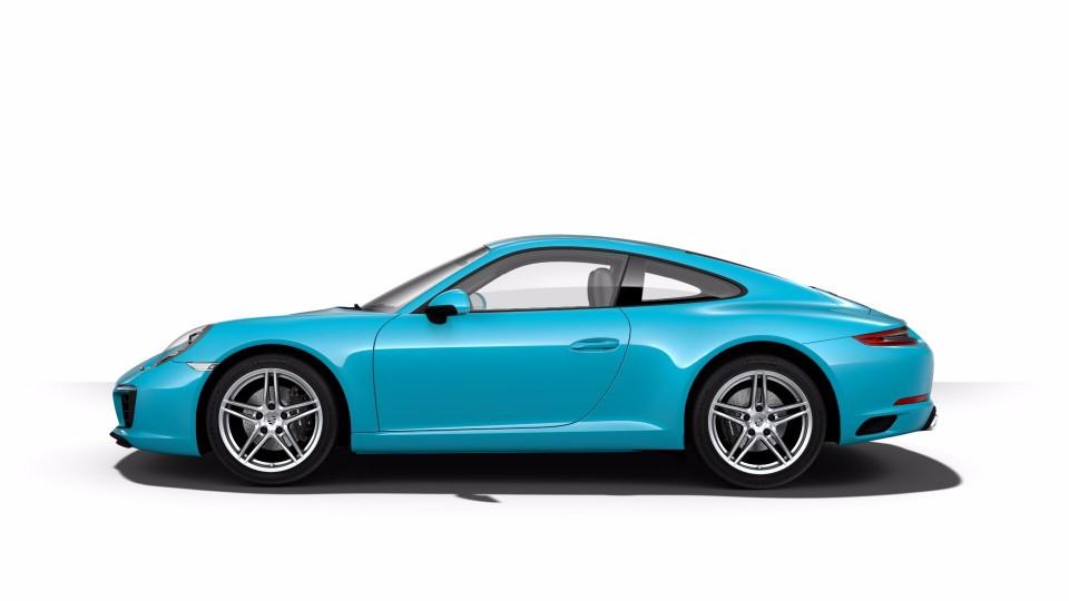 2018 Porsche 911 in Miami Blue