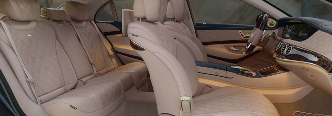 Side view of the 2018 Mercedes-Benz S-Class' front seats