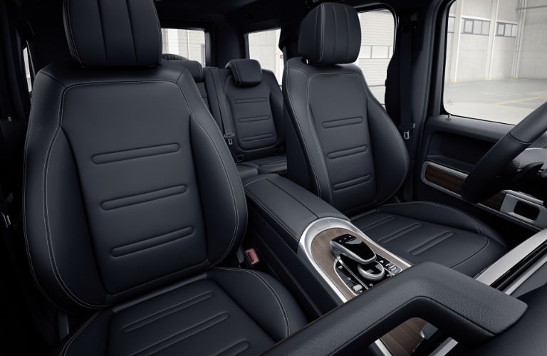 View of the front and second row seats inside the 2019 Mercedes-Benz G-Class