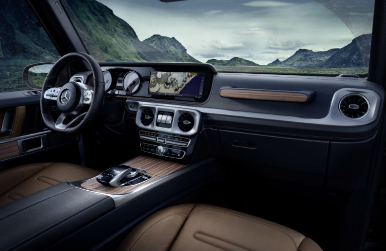 View of the dashboard of the 2019 Mercedes-Benz G-Class