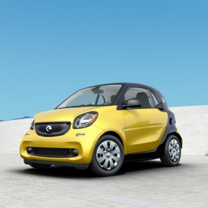2018 smart fortwo electric drive pure Black-to-Yellow Metallic