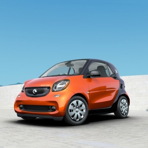 2018 smart fortwo electric drive pure Lava Orange Metallic