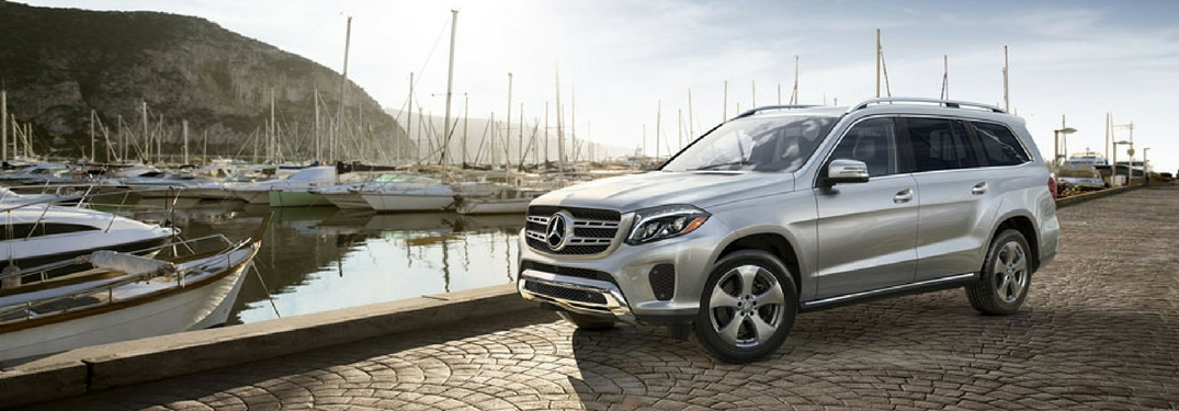 2018 mercedes-benz gls parked by a pier