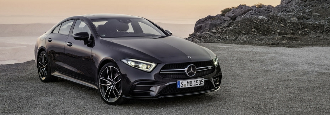 full view of the 2019 Mercedes-Benz CLA at sunset