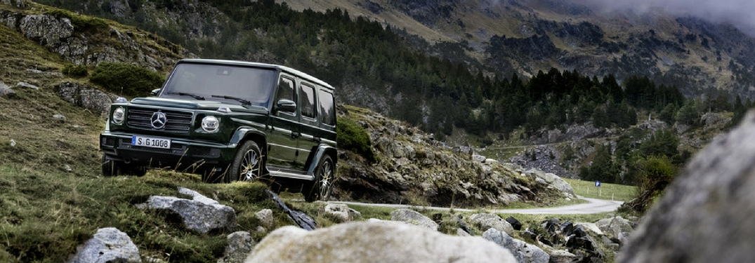 2019 mercedes-benz g-class driving on a mountain