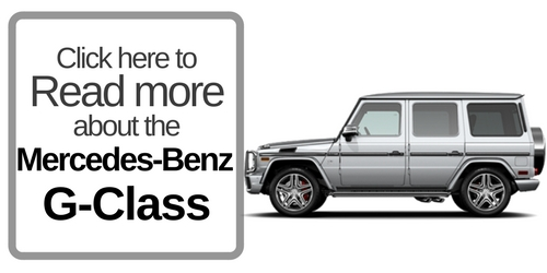 button that says to click here to read more about the mercedes-benz g-class