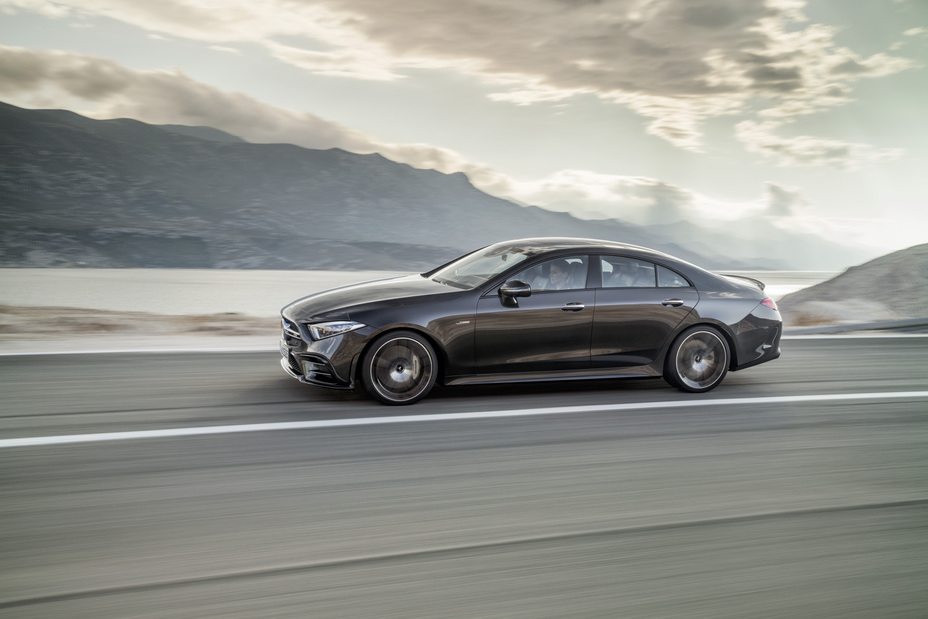 2019 Mercedes-Benz CLS driving on a highway
