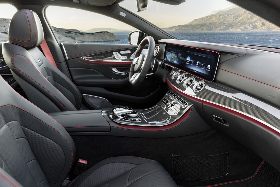 front seating area inside the 2019 Mercedes-Benz CLS