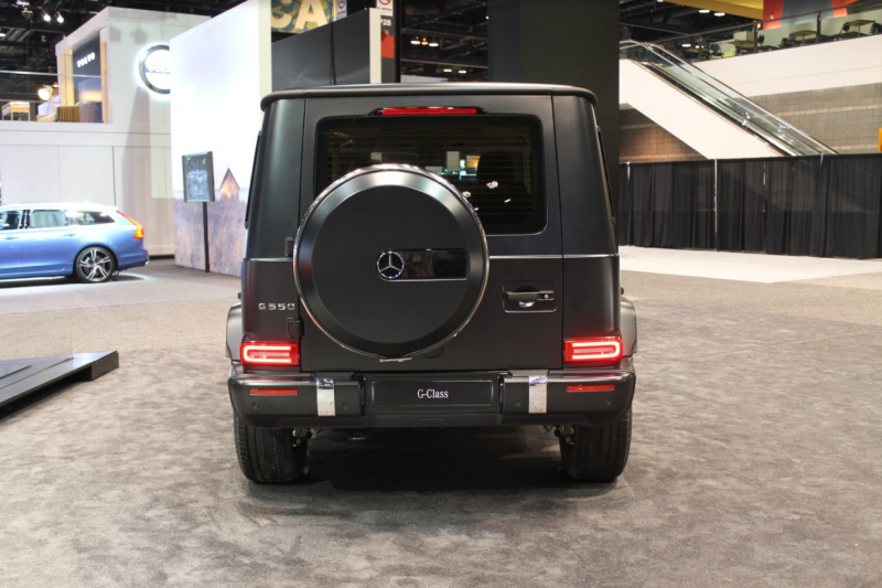 back end of the 2019 Mercedes-Benz G-Class at the 2018 Chicago Auto Show