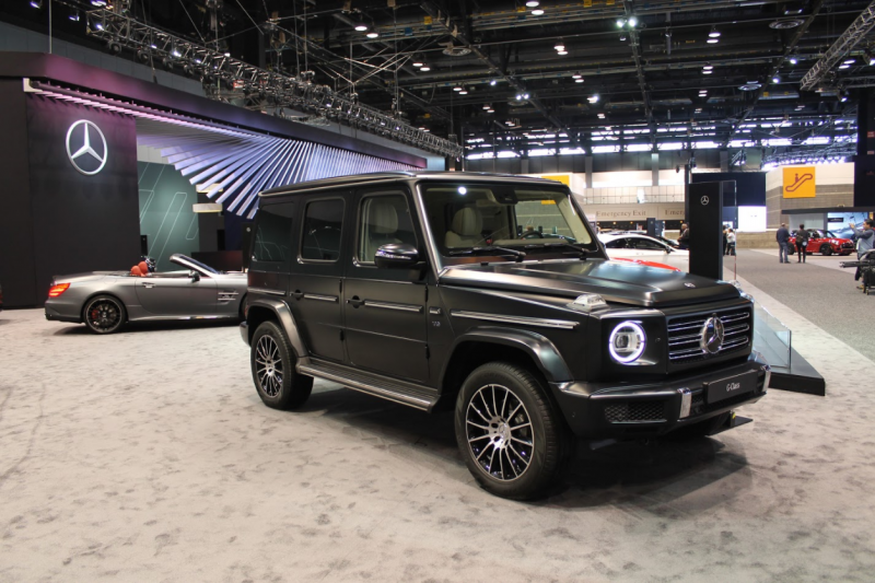 full view of the 2019 Mercedes-Benz G-Class at the 2018 Chicago Auto Show