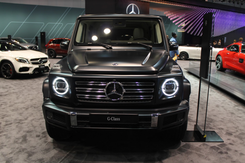 front end of the 2019 Mercedes-Benz G-Class at the 2018 Chicago Auto Show
