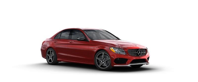 2018 Mercedes-AMG C 43 in designo Cardinal Red Metallic