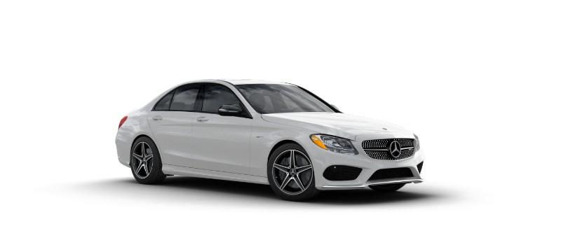 2018 Mercedes-AMG C 43 in designo Diamond White Metallic