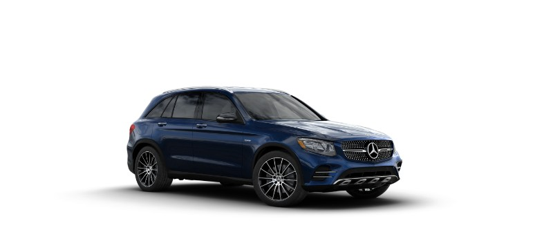 2018 Mercedes-AMG GLC 43 in Lunar Blue Metallic